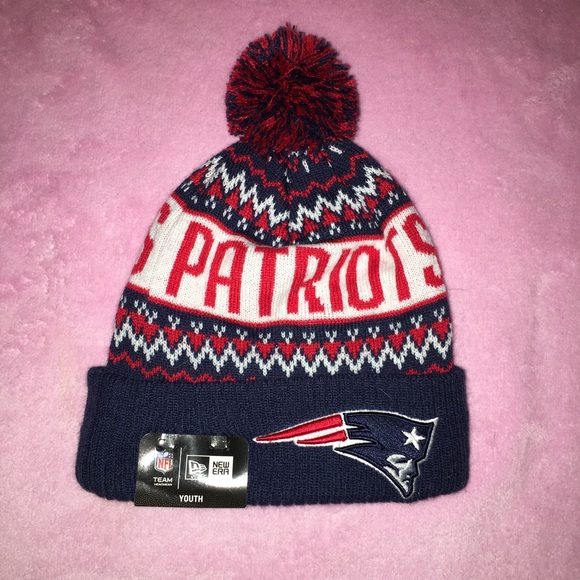 Youth patriots knit hat with pom pom bd9399acb